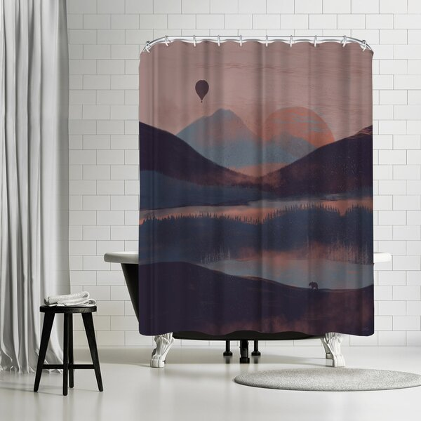 NDTank A Drift in the Mounatins Shower Curtain by East Urban Home