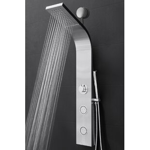 Easy Connect Shower Panel with Rainfall Waterfall Shower Head and Handshower by AKDY