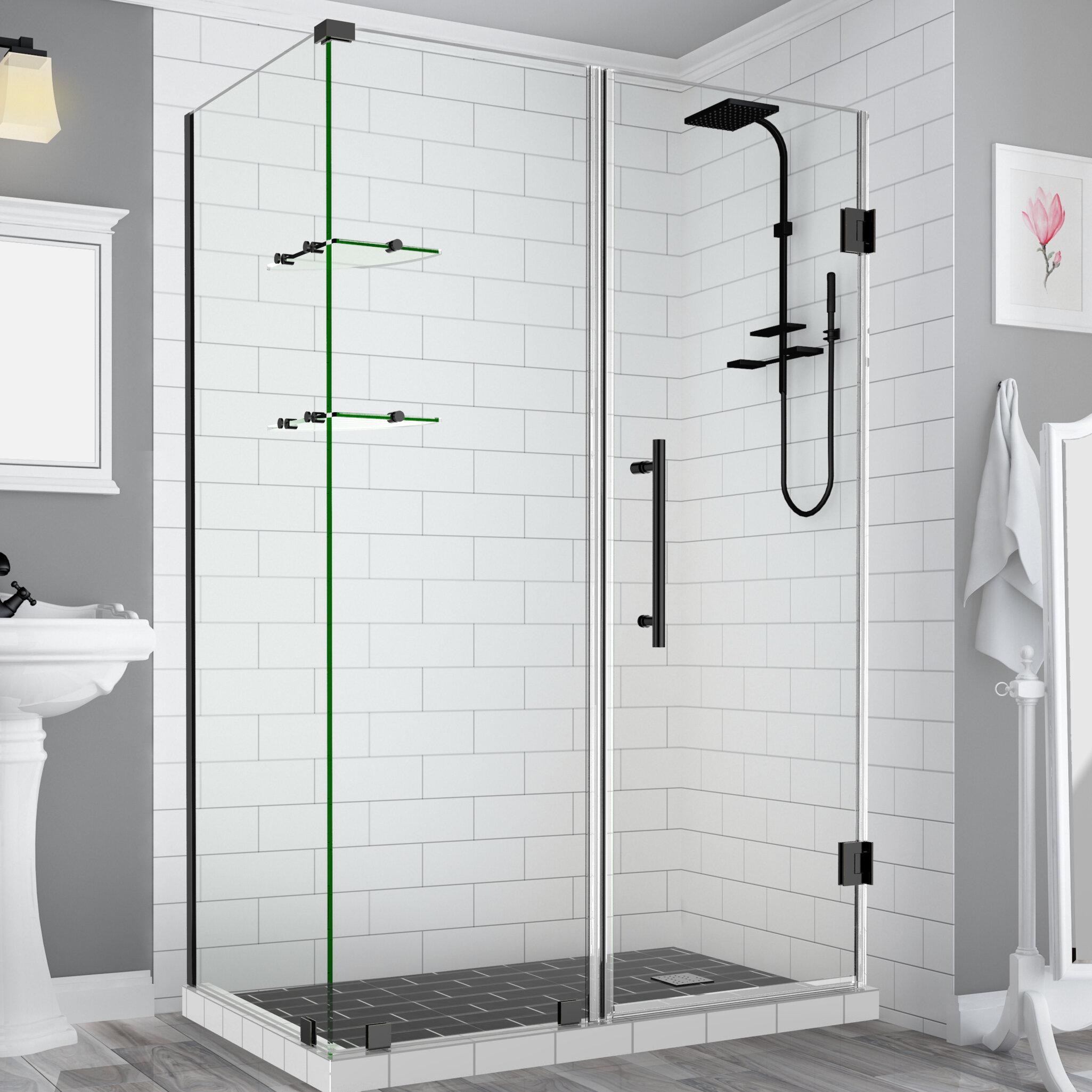 Aston Bromley Gs Frameless 72 X 72 Rectangle Hinged Shower Enclosure Wayfair
