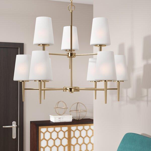 Ganador 9-Light Shaded Chandelier by Langley Street