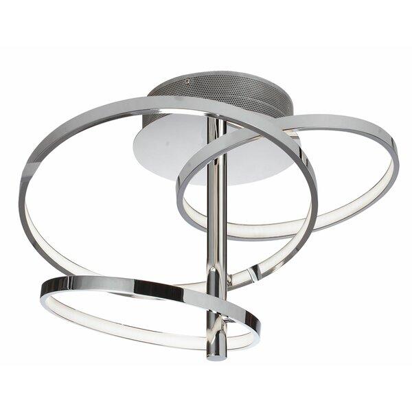 Elmore 3-Light LED Semi Flush Mount by Orren Ellis