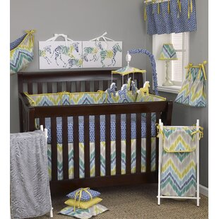 Compare Zebra Romp 8 Piece Crib Bedding Set ByCotton Tale