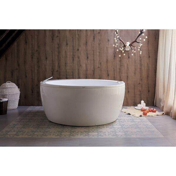 Pamela 68 x 68 Freestanding Whirlpool Bathtub by Aquatica