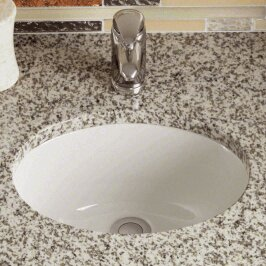 Reviews Vitreous China Oval Undermount Bathroom Sink By Polaris Sinks
