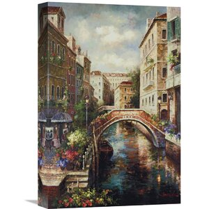 'Venice Canal' by James Lee Painting Print on Wrapped Canvas by Global Gallery