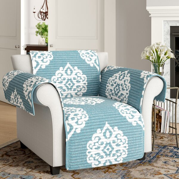Bourke Box Cushion Armchair Slipcover by Three Posts