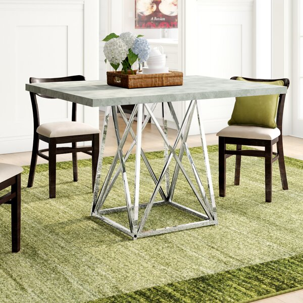 Damia Metal Dining Table by Latitude Run