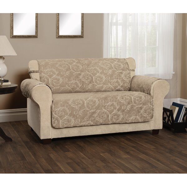 Scroll Jacquard Sofa Slipcover by Winston Porter