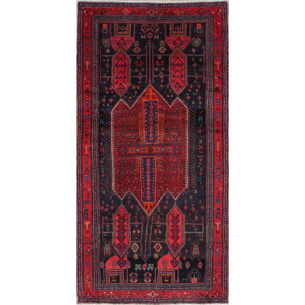Tribal Geometric Bidjar Persian Oriental Hand-Knotted Wool Runner Rug 8' 10