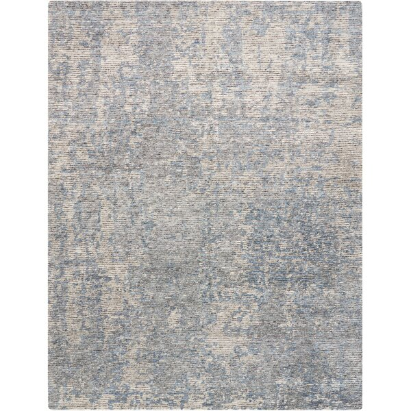Aroon Hand-Knotted Graphite Area Rug by 17 Stories