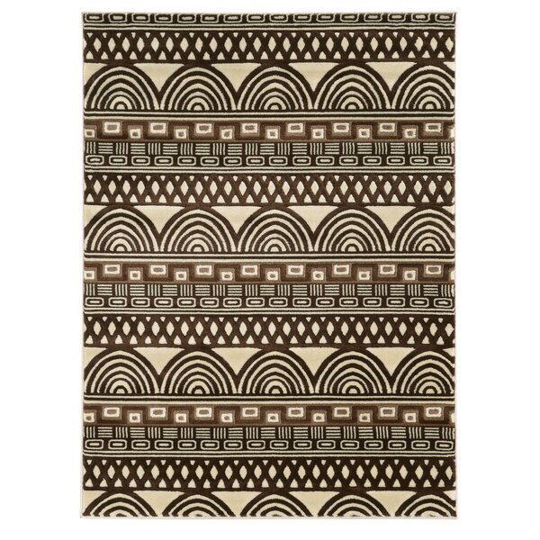 Roma Lima Ivory/Chocolate Rug by Linon Rugs