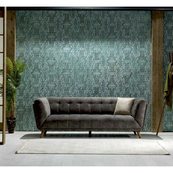 Danos Nubuck Chesterfield Sofa by Brayden Studio