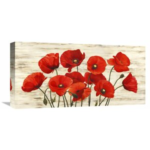 French Poppies' Painting Print on Wrapped Canvas by Andover Mills