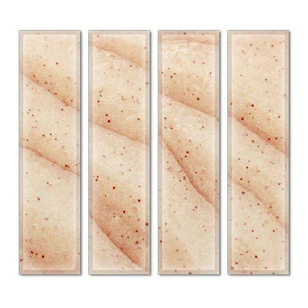 Custom 3 x 12 Beveled Glass Subway Tile in Beige by Upscale Designs by EMA