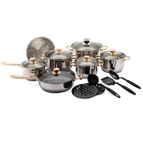 18 Piece Stainless Steel Cookware Set by The Final Grab Inc.