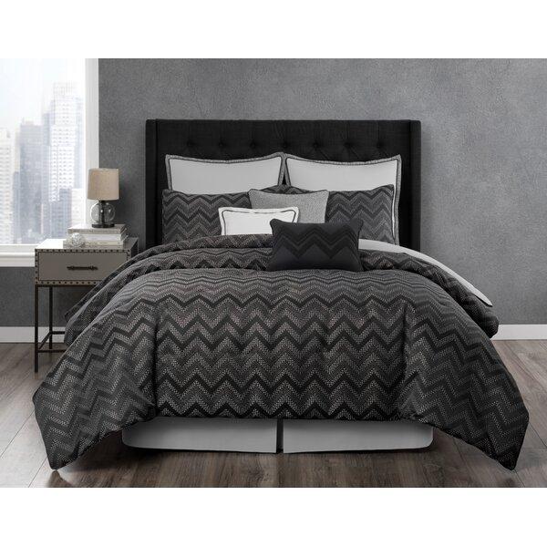 Berkeley Textured Chevron Reversible Comforter Set