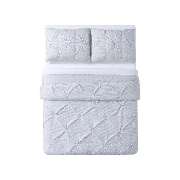 Chason Everyday Stripe Pleat Comforter Set by Highland Dunes