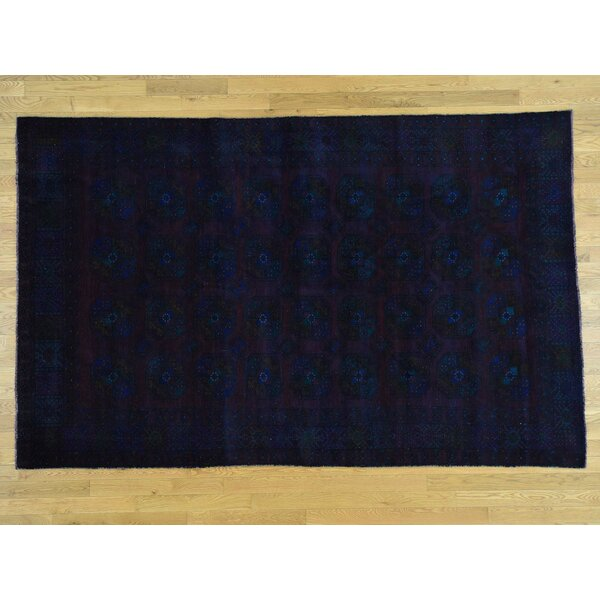 One-of-a-Kind Bolen Overdyed Turkoman Baluch Handwoven Wool Area Rug by Isabelline