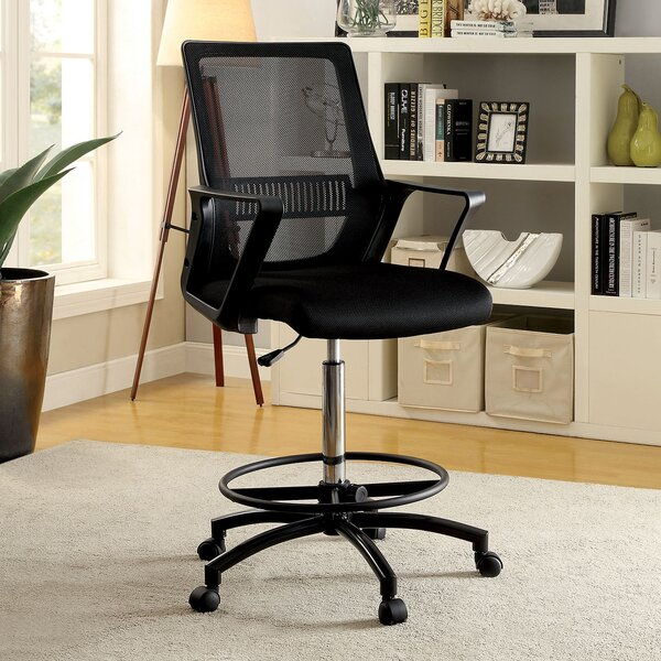 Topton Contemporary Office Mid-Back Mesh Drafting Chair by Latitude Run
