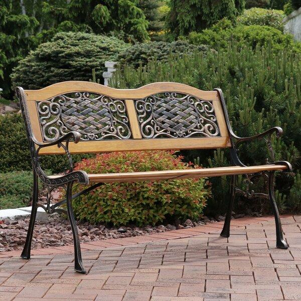 Brundidge Wooden Park Bench by Fleur De Lis Living