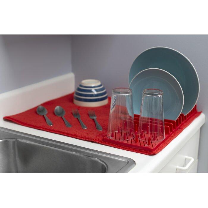 Low Profile Plastic Dish Drying Rack