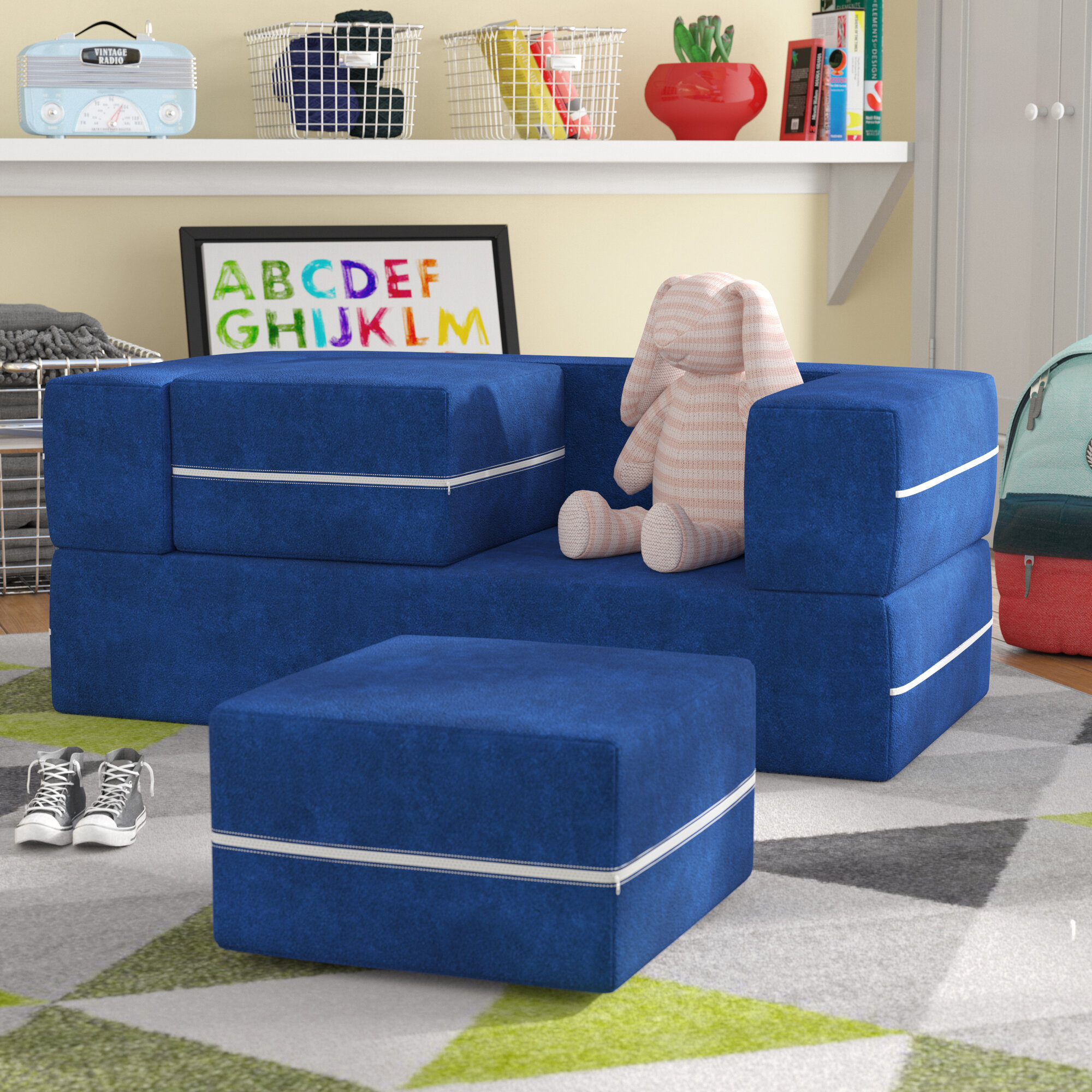 Remarkable Mack Milo Mendonca Modular Kids Sofa And Ottoman Reviews Pdpeps Interior Chair Design Pdpepsorg