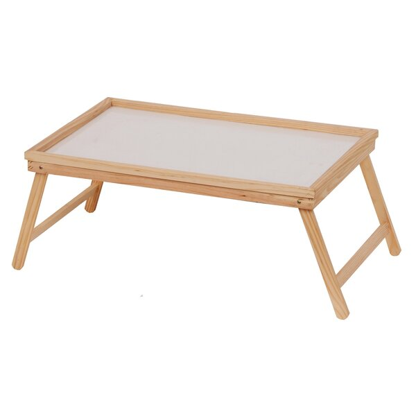 Josue Wood Breakfast Tray with Foldable Leg by Symple Stuff