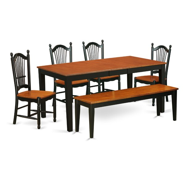 Cleobury Extendable Solid Wood Dining Set by August Grove August Grove