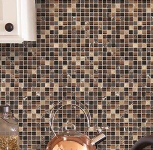 Treasure 12 x 12 Glass Gem Mosaic Tile in Brown Toffee by Mohawk Flooring