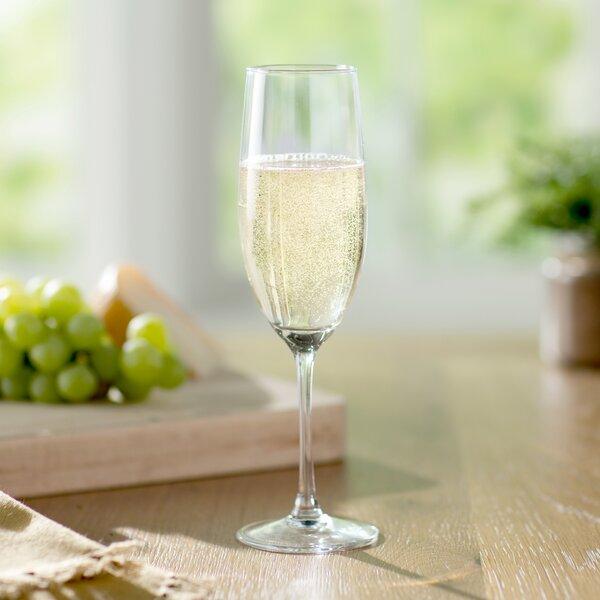 Wayfair Basics 8 Oz Champagne Flute Set Set Of 4 By Wayfair Basics.