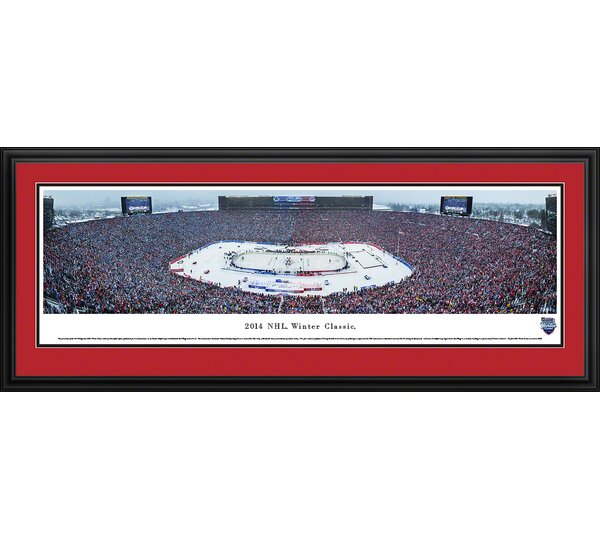 NHL Winter Classic - Detroit Red Wings by Christopher Gjevre Framed Photographic Print by Blakeway Worldwide Panoramas, Inc
