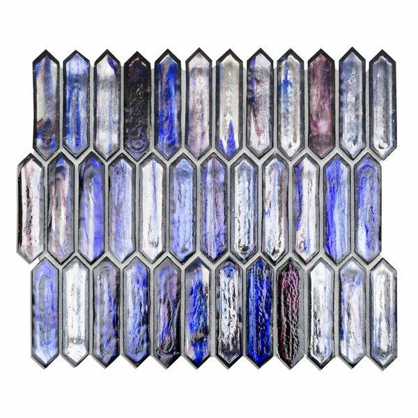Fargin 0.9 x 3.1 Glass Mosaic Tile in Dusk by Splashback Tile