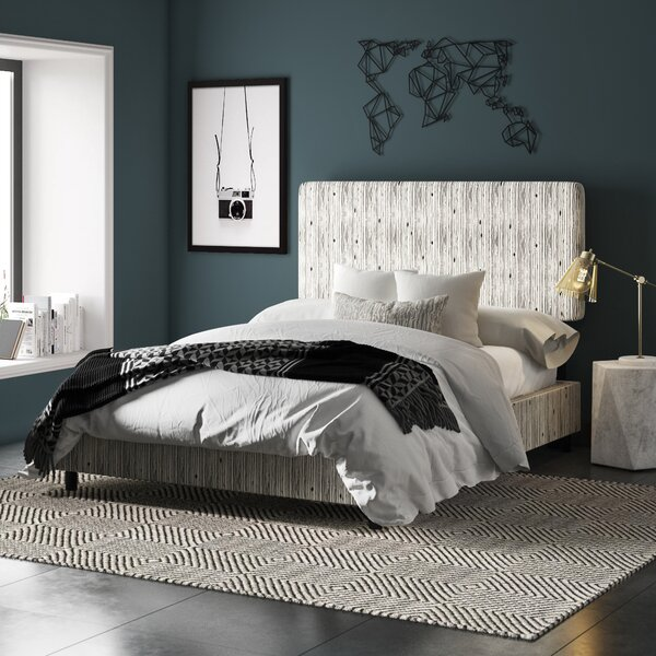 Buhr Linen Upholstered Standard Bed by Mercury Row