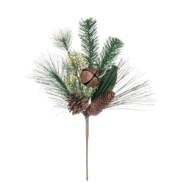 Pine, Magnolia with Bells Pick Foliage Plant (Set of 4) by The Holiday Aisle