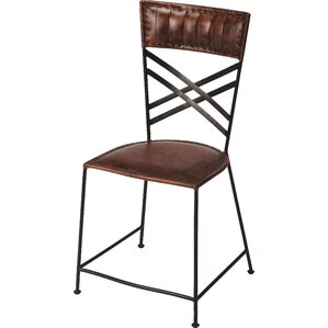 Mahika Genuine Leather Upholstered Dining Chair by 17 Stories
