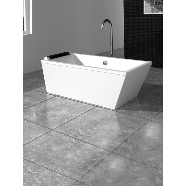 Large Freestanding 24 x 75 Bathtub by Fine Fixtures