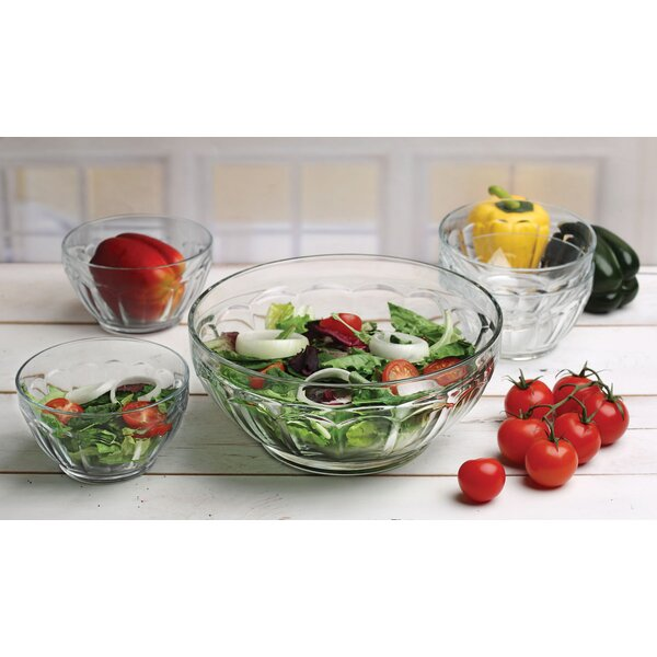Popular 5 Piece Salad Bowl Set by Circle Glass