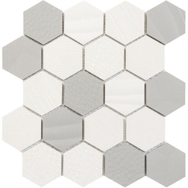 Surface Hex 3 x 3 Porcelain Mosaic Tile in Blend by Emser Tile