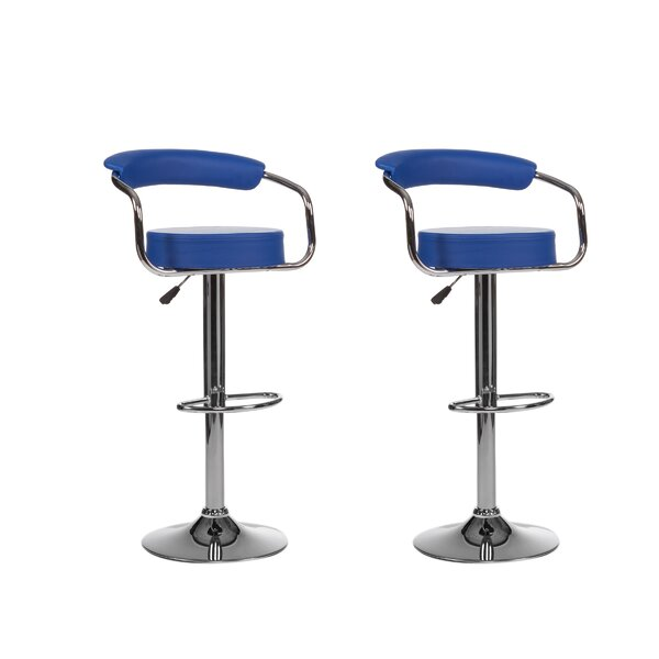 Curve Adjustable Height Swivel Bar Stool (Set of 2) by Winport Industries