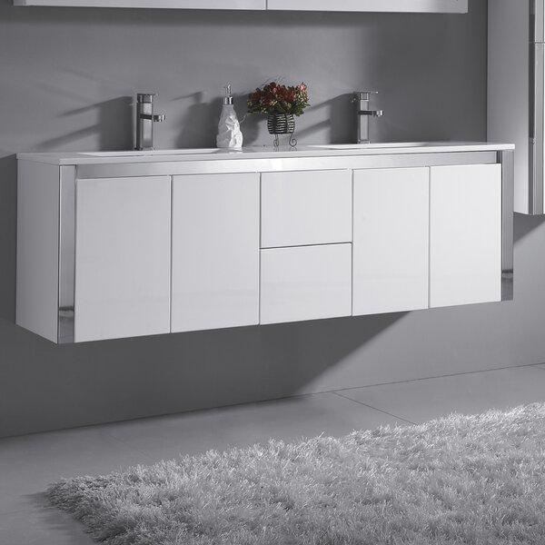 Lelio 59 Wall-Mounted Double Bathroom Vanity Set by Ove Decors