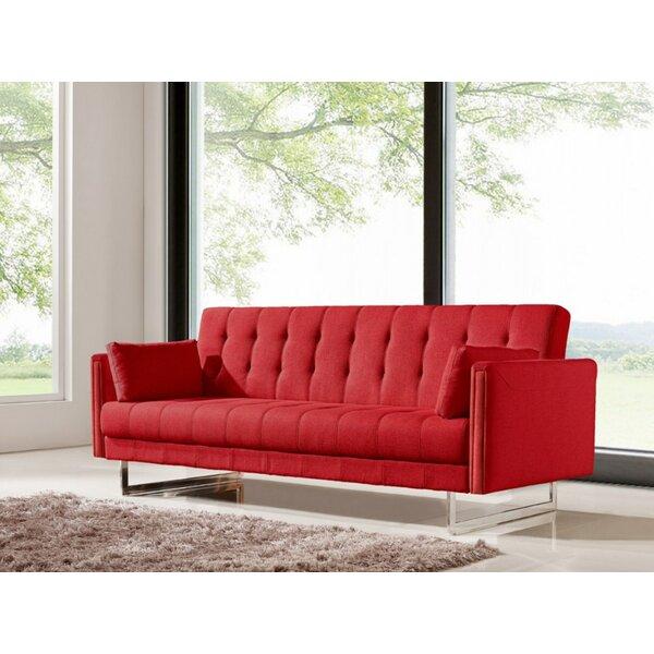 A Wide Selection Of Faviola Red Sofa by Orren Ellis by Orren Ellis