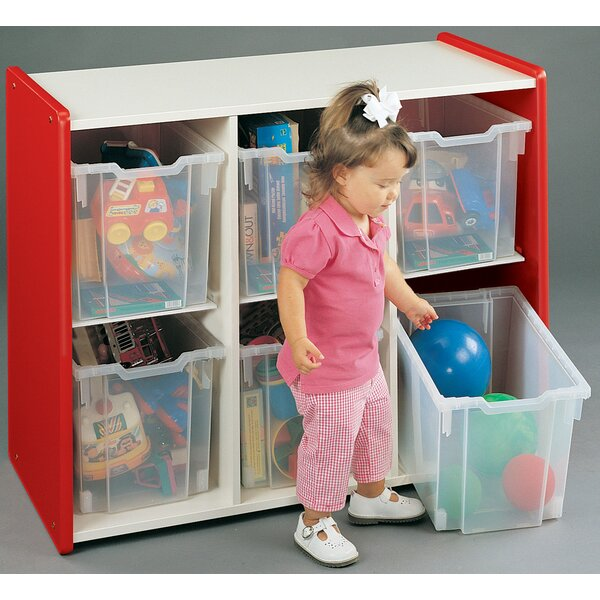1000 Series Preschooler Extra Deep Big 6 Compartment Cubby by TotMate