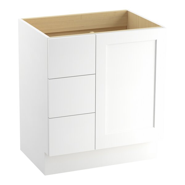 Poplin™ 30 Vanity with Toe Kick, 1 Door and 3 Drawers on Left by Kohler