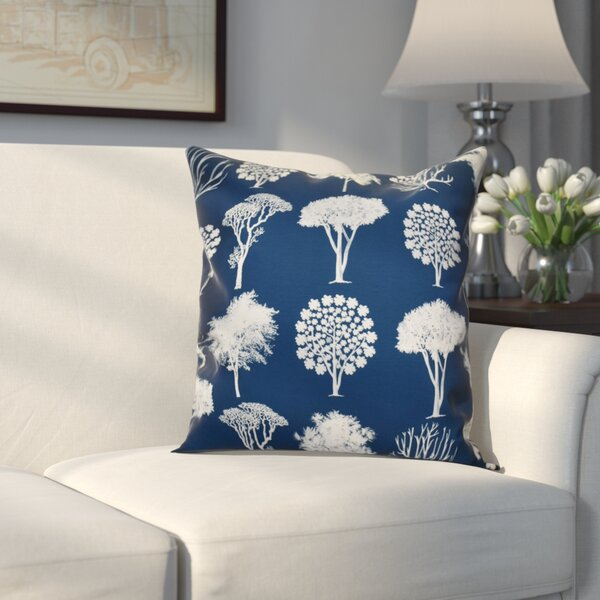 Miller Field of Trees Floral Throw Pillow by Alcott Hill