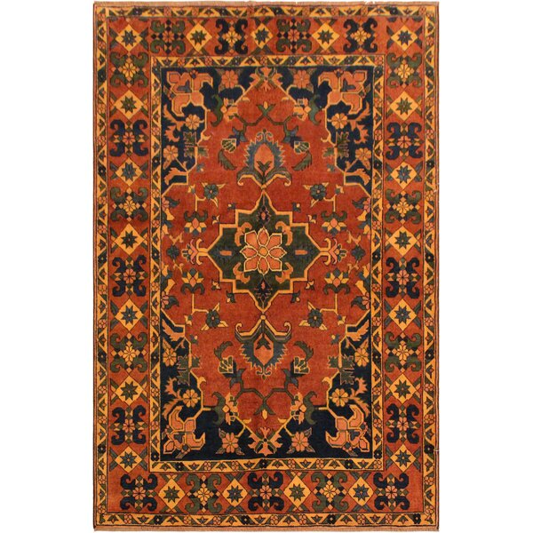 One-of-a-Kind Dorn Hand-Knotted Wool Red/Blue Area Rug by Isabelline