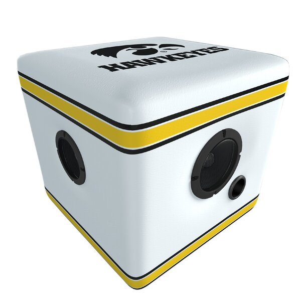 Hawkeyes Upholstered Speaker Cube Ottoman by Rainmaker Imports