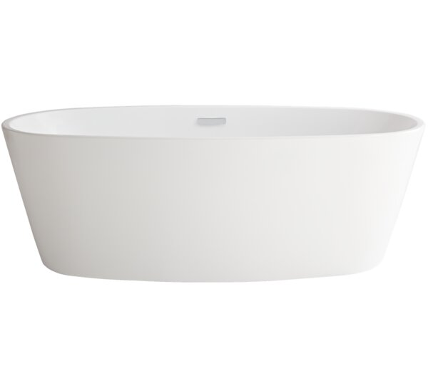 Serin Coastal 68.75 x 31.25 Freestanding Soaking Bathtub by American Standard