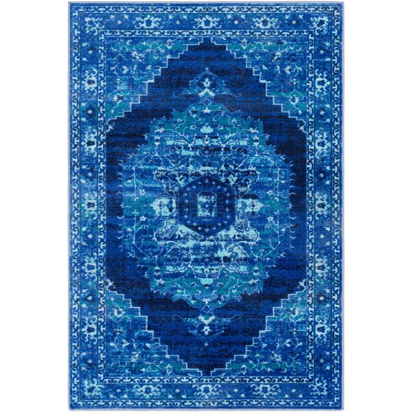 Wyclif Overdyed Blue Area Rug by Bungalow Rose
