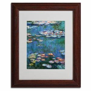 Waterlilies Classic by Claude Monet Framed Painting Print by Trademark Fine Art