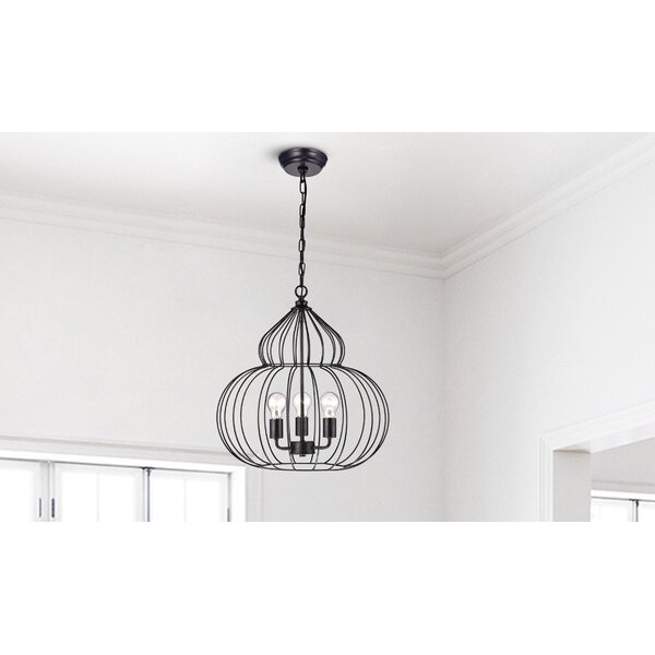 Narron 3 - Light Unique / Statement Globe Chandelier By Wrought Studio